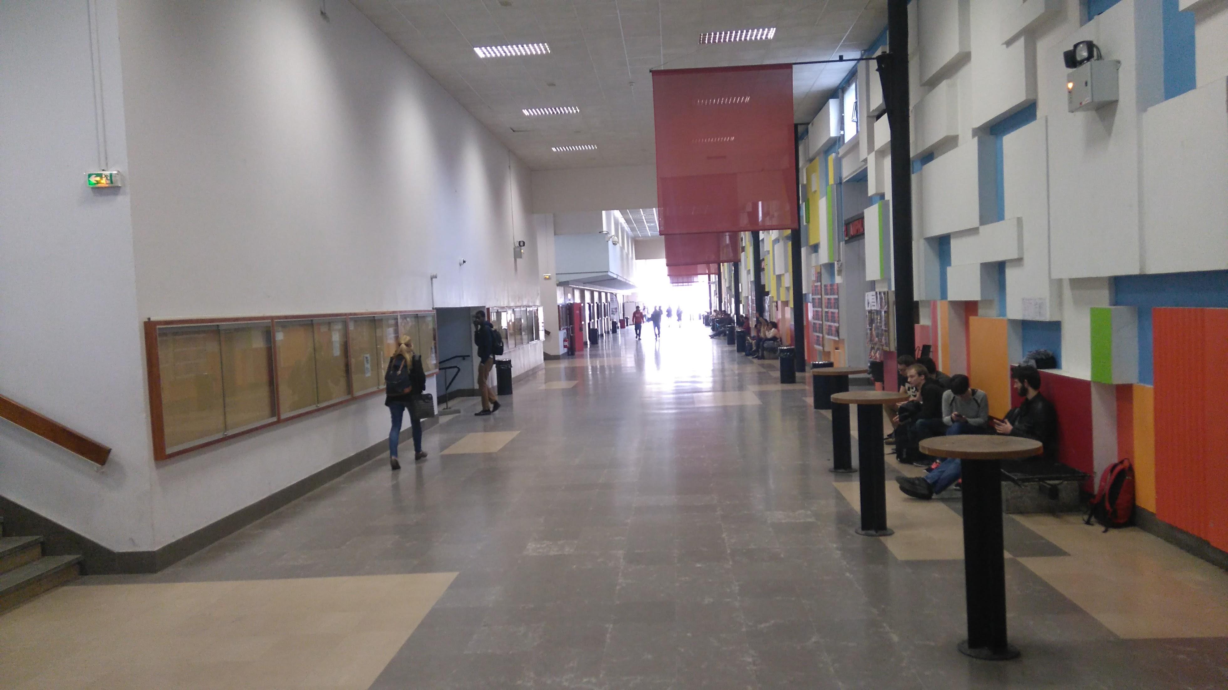Le Déambulatoire est le bâtiment principal du 1er cycle à l'UCBL